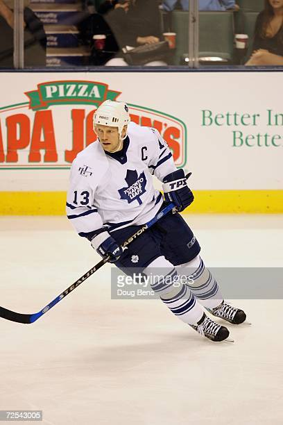 Mats Sundin of the Toronto Maple Leafs skates against the Florida Panthers at BankAtlantic Center on November 2, 2006 in Sunrise, Florida. The...