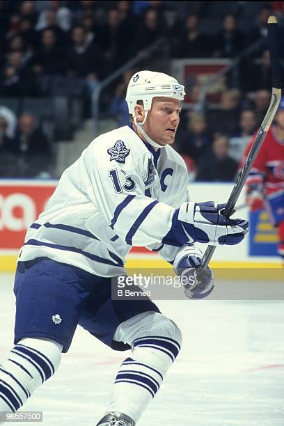 Mats Sundin of the Toronto Maple Leafs skates against the Montreal Canadiens in the first game at Air Canada Centre on February 20 1999 in Toronto...