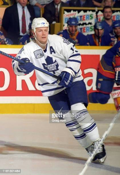 Mats Sundin of the Toronto Maple Leafs skates against the St. Louis Blues during NHL game action on December 3, 1996 at Maple Leaf Gardens in...
