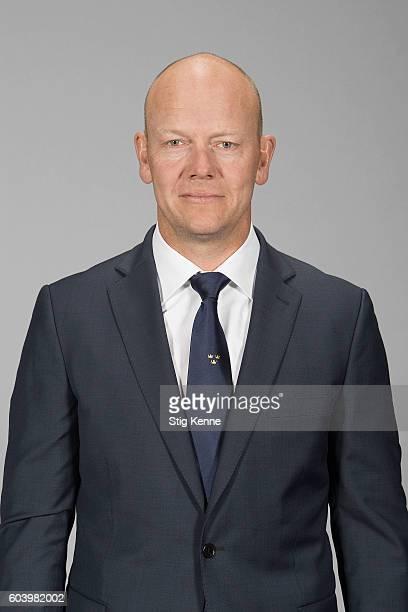 Mats Sundin Senior Advisor of Team Sweden poses for his official World Cup of Hockey head shot at the Scandinavium on September 6 2016 in Gothenburg...