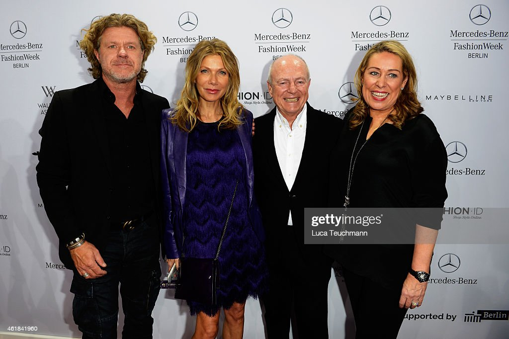 Mats Wahlstroem, Ursula Karven, Juergen Buckenmair and Martina Cruse attend the Riani show during the Mercedes-Benz Fashion Week Berlin Autumn/Winter 2015/16 at Brandenburg Gate on January 20, 2015 in Berlin, Germany.
