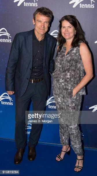 Mats Wilander and wife Sonya Wilander attend the Annual Legends lunch at the Grand Hyatt hotel on day 13 of the 2018 Australian Open on January 27...