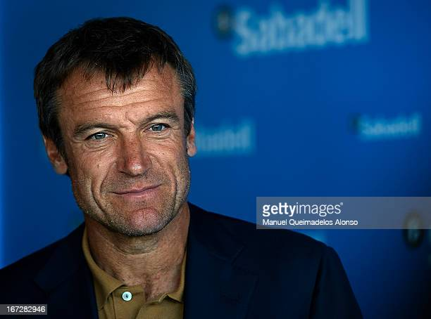 Mats Wilander attends the ATP 500 World Tour Barcelona Open Banc Sabadell 2013 tennis tournament at the Real Club de Tenis on April 23 2013 in...