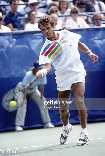 Mats Wilander during the 1988 US Open Tennis Tournament in Flushing Queens