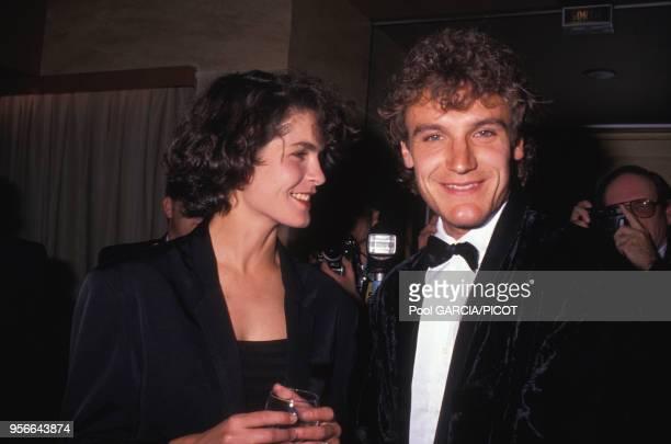 Mats Wilander et sa femme Sonya lors d'une soirée à Paris en juin 1989 France