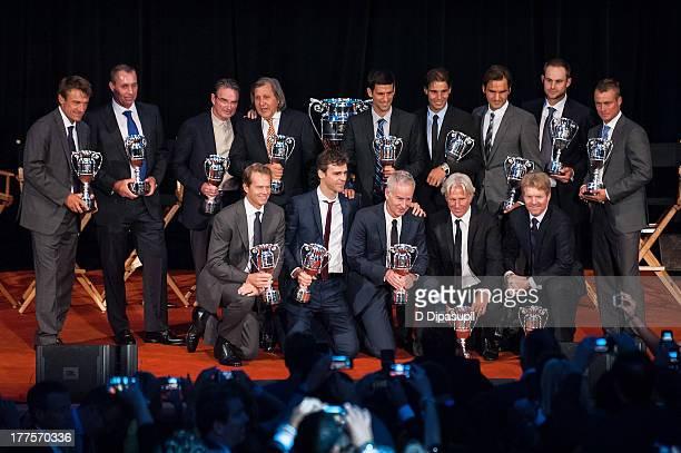 Mats Wilander Ivan Lendl Jimmy Connors Ilie Nastase Novak Djokovic Rafael Nadal Roger Federer Andy Roddick Lleyton Hewitt and Stefan Edberg Gustavo...