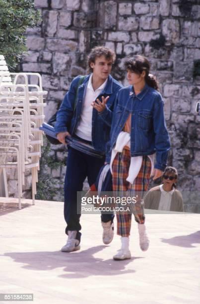 Mats Wilander à Monaco le 26 avril 1986