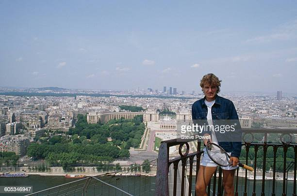 Mats Wilander of Sweden the poses for a portrait at the Eiffel Tower after winning the Men's Singles Final match at the French Open Tennis...