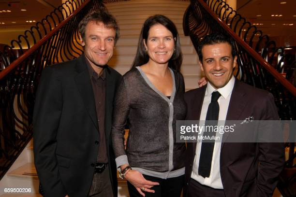 Mats Wilander Sonya Wilander and Amedeo Scognamiglio attend FARAONE MENNELLA at Richards of Greenwich for DebRA Bracelet Unveiling at Richards on...