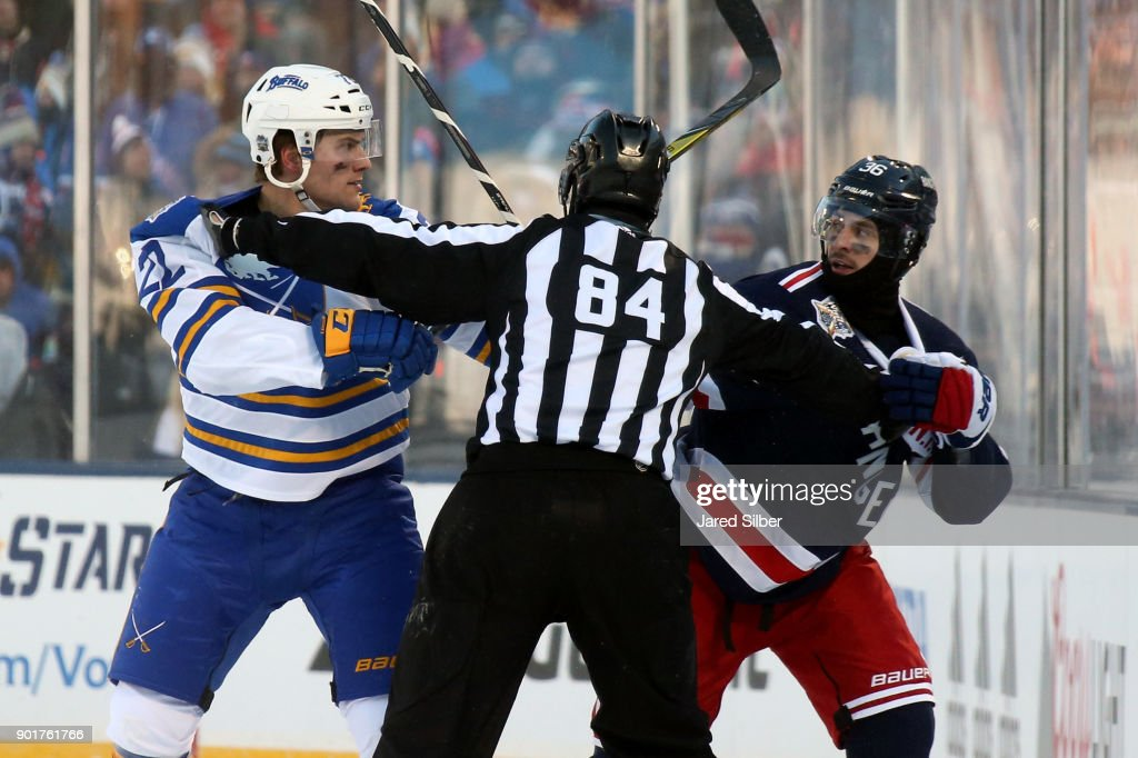 new style 7cf2b 91896 Mats Zuccarello of the New York Rangers and Johan Larsson of ...