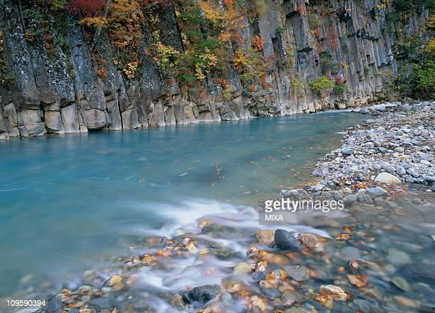matsukawa valley, hachimantai, iwate, japan - 八幡平市 ストックフォトと画像