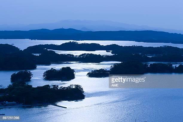 Matsushima Bay at dawn, Miyagi Prefecture, Honshu, Japan