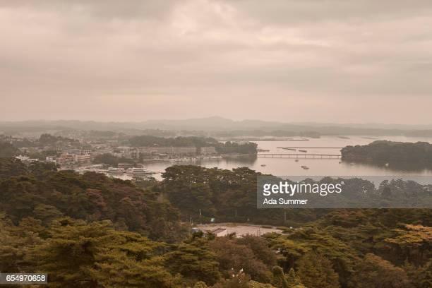 Matsushima Bay at dusk, Miyagi Prefecture, Honshu, Japan