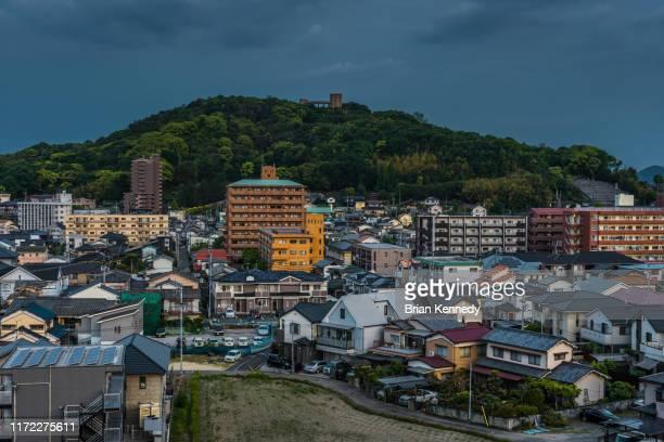 matsuyama cityscape - matsuyama ehime stock pictures, royalty-free photos & images