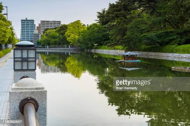 matsuyama moat - matsuyama ehime stock pictures, royalty-free photos & images