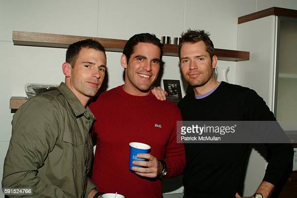 Matt Abue Heath Rosenthal and Lincoln Palsgrove attend BoConcept KolDesign Hoilday Party at BoConcept on December 14 2005 in New York City