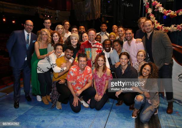 Matt Allen with Christopher Ashley Kelly Devine and cast members during the Actors' Equity Gypsy Robe Ceremony honoring Matt Allen for 'Escape To...