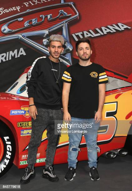 Matt and Bise attend Cars 3 photocall in Milan on September 11 2017 in Milan Italy