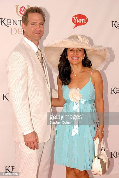 Matt and Tina Battaglia attends The Kentucky Derby at Churchill Downs on May 7 2011 in Louisville Kentucky