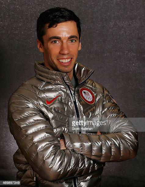 Matt Antoine of the USA Skeleton team poses in the Olympic Park during the Sochi 2014 Winter Olympics on February 16 2014 in Sochi Russia