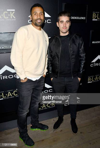 Matt Babel and Matthew Budman attends The Annual Black Ball powered by Cîroc Black Raspberry and Don Julio on February 20 2019 in Los Angeles...