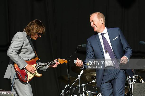 Matt Backer and Martin Fry of ABC performs at Electric Picnic Festival at Stradbally Hall Estate on September 2, 2016 in Dublin, Ireland.