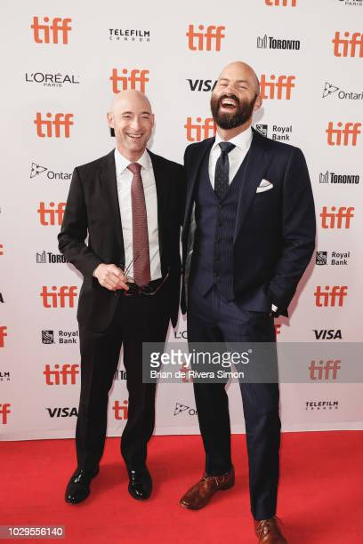 Matt Bai and Jay Carson attend 'The Front Runner' premiere at Ryerson Theatre on September 8 2018 in Toronto Canada