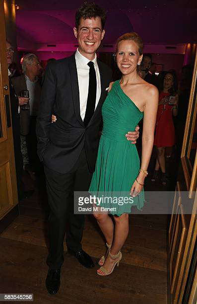 Matt Barber and guest attend the press night after party for 'Breakfast at Tiffany's' at the The Haymarket Hotel on July 26 2016 in London England