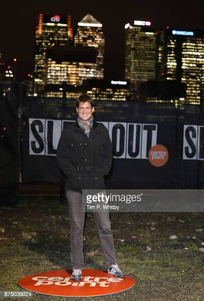 Matt Barber poses for a photo during the Sleep Out Fundraiser at Greenwich Peninsula on November 16 2017 in London England The Sleep Out Fundraiser...