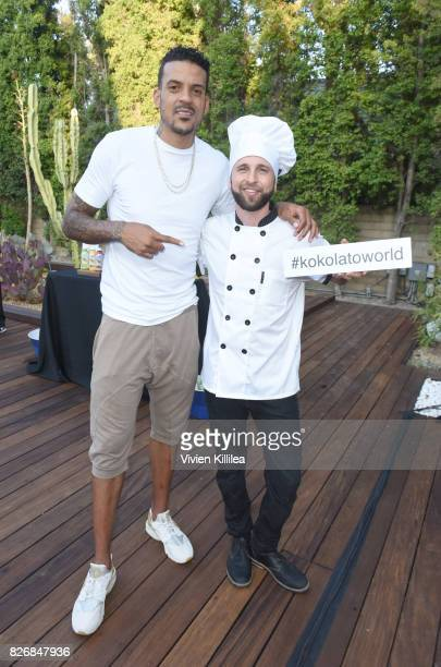 Matt Barnes and CEO of Kokolato Gourmet Vegan Gelato Jonathan Keim attend Athletes vs Cancer Pool Party on August 5 2017 in Beverly Hills California