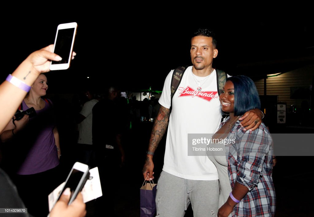 Matt Barnes (L) attends the Athletes vs Cancer Smoke4aCure Event on August 9, 2018 in Inglewood, California.