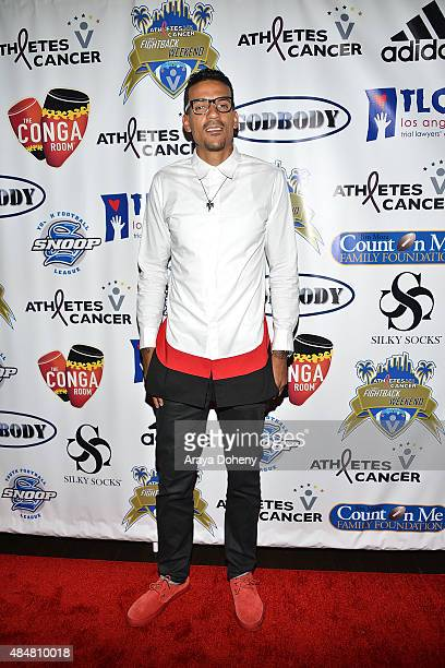 Matt Barnes hosts athletes vs Cancer Fightback Comedy Jam at Conga Room on August 21 2015 in Los Angeles California