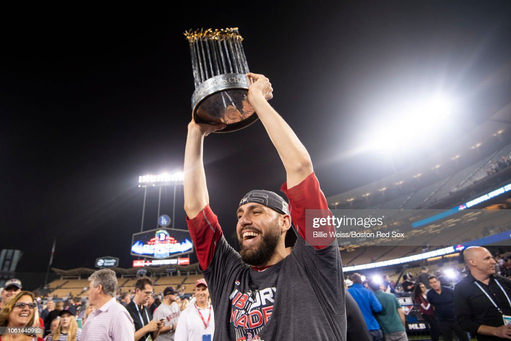 World Series - Boston Red Sox v Los Angeles Dodgers - Game Five (G) : News Photo