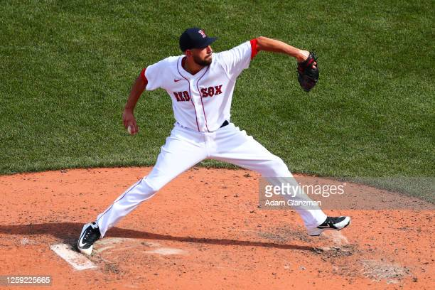 Matt Barnes of the Boston Red Sox pitches during a game giants the Baltimore Orioles at Fenway Park on July 26, 2020 in Boston, Massachusetts.