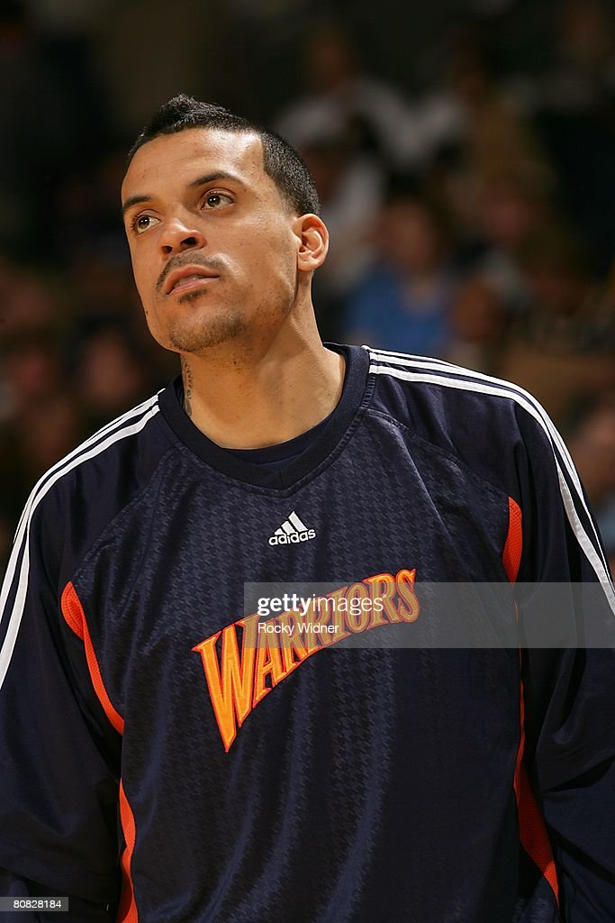 finest selection 458db 49433 Matt Barnes of the Golden State Warriors looks on during the ...