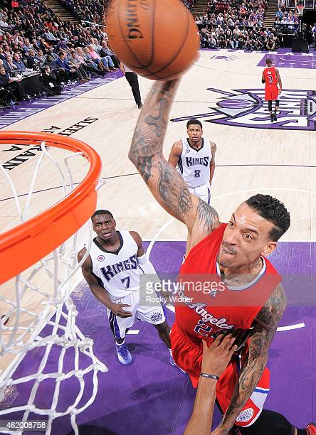 Matt Barnes of the Los Angeles Clippers dunks against the Sacramento Kings on January 17 2015 at Sleep Train Arena in Sacramento California NOTE TO...