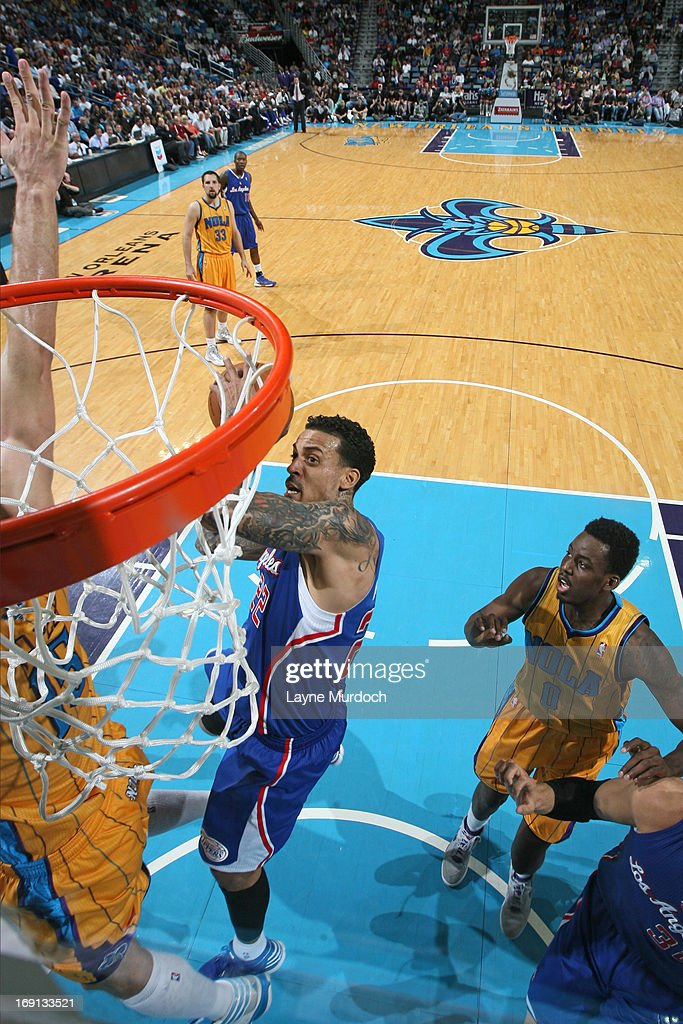Matt Barnes #22 of the Los Angeles Clippers goes to the basket against the New Orleans Hornets on April 12, 2013 at the New Orleans Arena in New Orleans, Louisiana.