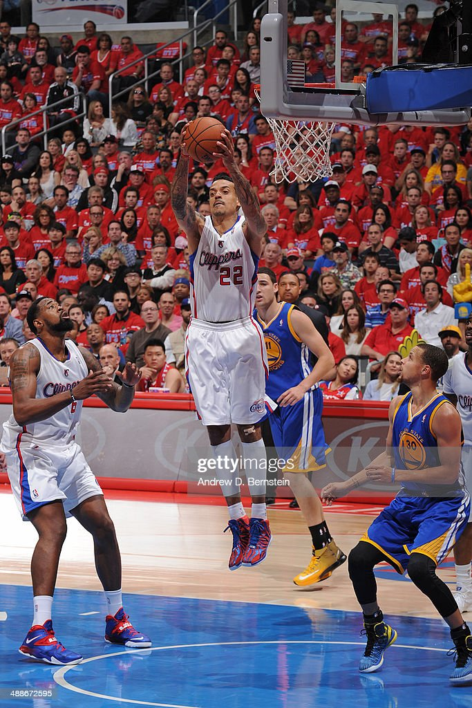 Matt Barnes #22 of the Los Angeles Clippers grabs a rebound against the Golden State Warriors in Game Seven of the Western Conference Quarterfinals during the 2014 NBA Playoffs at Staples Center on May 3, 2014 in Los Angeles, California.