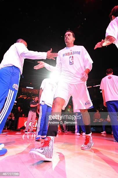 Matt Barnes of the Los Angeles Clippers is introduced before a game against the Toronto Raptors at STAPLES Center on February 7 2014 in Los Angeles...