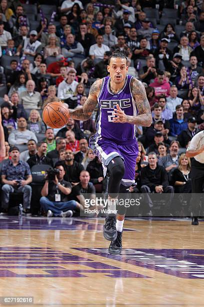 Matt Barnes of the Sacramento Kings brings the ball up the court against the Oklahoma City Thunder on November 23 2016 at Golden 1 Center in...