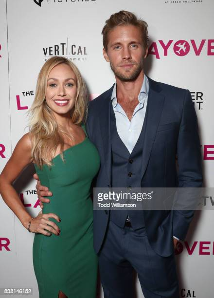 Matt Barr and guest attend the premiere of DIRECTV And Vertical Entertainment's 'The Layover' at ArcLight Hollywood on August 23 2017 in Hollywood...