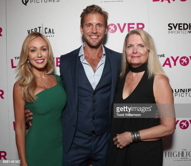 Matt Barr and guests attend the premiere of DIRECTV And Vertical Entertainment's 'The Layover' at ArcLight Hollywood on August 23 2017 in Hollywood...