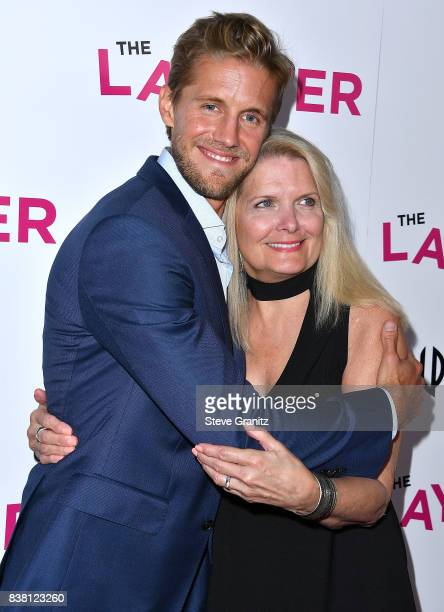Matt Barr and mom arrives at the Premiere Of DIRECTV And Vertical Entertainment's 'The Layover' at ArcLight Hollywood on August 23 2017 in Hollywood...