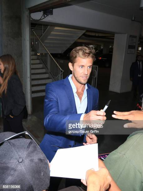 Matt Barr is seen on August 23 2017 in Los Angeles California