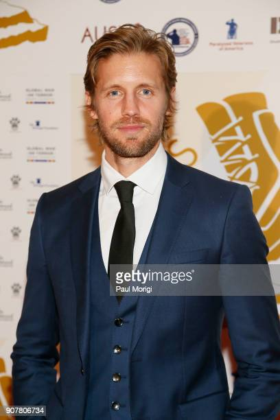 Matt Barr Presenter and Actor arrives at the 3rd Annual Vetty Awards at The Mayflower Hotel on January 20 2018 in Washington DC
