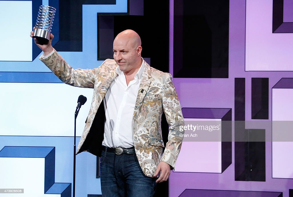 Matt Barrie of Freelancer accepts an award for Websites during the 19th Annual Webby Awards on May 18, 2015 in New York City.
