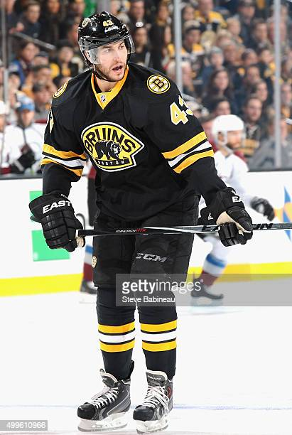 Matt Bartkowski of the Boston Bruins plays in the game against the Colorado Avalanche at TD Garden on October 13, 2014 in Boston, Massachusetts.