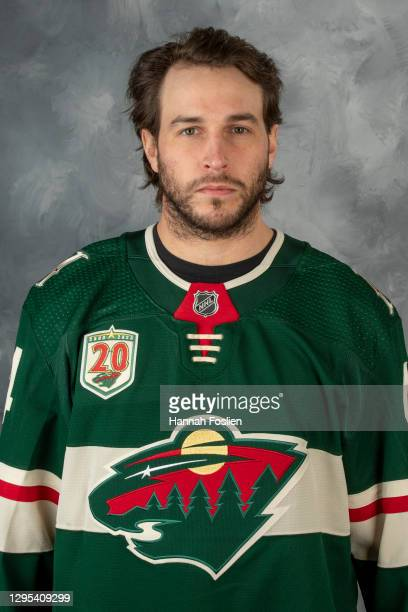 Matt Bartkowski of the Minnesota Wild poses for his official headshot for the 2020-2021 season on January 3, 2021 at the Tria Practice Rink in St....