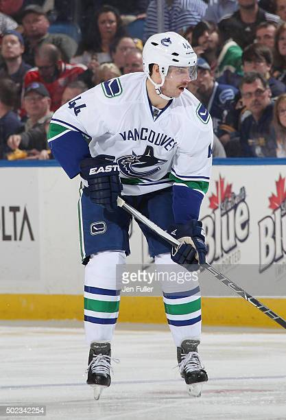 Matt Bartkowski of the Vancouver Canucks skates against the Buffalo Sabres at First Niagara Center on November 7 2015 in Buffalo New York