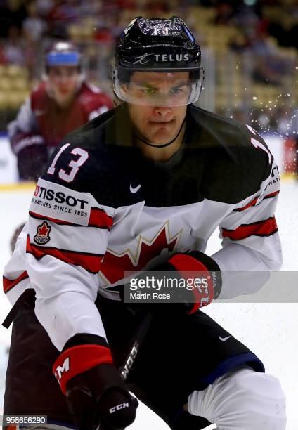 Matt Barzal of Canada skates against Latvia during the 2018 IIHF Ice Hockey World Championship Group B game between Canada and Latvia at Jyske Bank...